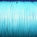 Viaszos zsinór - 2 mm (ZS41. minta/1 m) - babakék, Gyöngy, ékszerkellék, Alkotók boltja