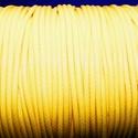 Viaszos zsinór - 2 mm (ZS42. minta/1 m) - sárga, Gyöngy, ékszerkellék,  Viaszos zsinór (ZS42. minta) - sárga  Nyakbavaló alap, karkötő alap alapanyaga. Fonáshoz, de ..., Alkotók boltja