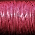 Viaszos zsinór - 2 mm (ZS47. minta/1 m) - bordó, Gyöngy, ékszerkellék, Ékszerkészítés,  Viaszos zsinór (ZS47. minta) - bordó  Nyakbavaló alap, karkötő alap alapanyaga. Fonáshoz, de bármi..., Alkotók boltja