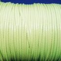 Viaszos zsinór - 2 mm (ZS57. minta/1 m) - világoszöld, Gyöngy, ékszerkellék, Ékszerkészítés,  Viaszos zsinór (ZS57. minta) - világoszöld  Nyakbavaló alap, karkötő alap alapanyaga. Fonáshoz, de..., Alkotók boltja