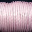 Viaszos zsinór - 3 mm (ZS48. minta/1 m) - rózsaszín, Gyöngy, ékszerkellék, Ékszerkészítés,  Viaszos zsinór (ZS48. minta) - rózsaszín  Nyakbavaló alap, karkötő alap alapanyaga. Fonáshoz, de b..., Alkotók boltja