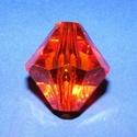 Akril gyöngy-11 (1 db) - narancssárga kristály, Gyöngy, ékszerkellék,     Akril gyöngy-11 - narancssárga - kristály forma  Mérete: 35x30 mmFurat mérete: 5 mm  Az ár..., Alkotók boltja