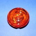Akril gyöngy-2 (1 db) - narancssárga csiga, Gyöngy, ékszerkellék,    Akril gyöngy-2 - csiga - narancssárga   Mérete: 40x15 mmFurat mérete: 5 mm  Az ár 1 darab te..., Alkotók boltja