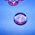 Akril gyöngy-26 (1 db) - rózsaszín korong, Gyöngy, ékszerkellék,     Akril gyöngy-26 - korong - rózsaszín  Mérete: 22x10 mmFurat mérete: 5 mm  Az ár 1 darab te..., Alkotók boltja