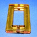 Akril gyöngy-4 (1 db) - narancssárga tégla, Gyöngy, ékszerkellék,     Akril gyöngy-4 - tégla keret - narancssárga   Mérete: 52x34x8 mmFurat mérete: 5 mm  Az ár ..., Alkotók boltja