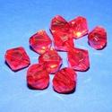 Akril gyöngy-50 (1 db) - piros kristály, Gyöngy, ékszerkellék,     Akril gyöngy-50 - kristály forma - piros  Mérete: 16 mmFurat mérete: 1 mm  Az ár 1 darab te..., Alkotók boltja