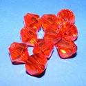 Akril gyöngy-51 (1 db) - narancssárga kristály, Gyöngy, ékszerkellék,     Akril gyöngy-51 - kristály forma - narancssárga  Mérete: 16 mmFurat mérete: 1 mm  Az ár 1 ..., Alkotók boltja