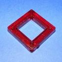 Akril gyöngy-6 (1 db) - piros négyzet, Gyöngy, ékszerkellék,     Akril gyöngy-6 - négyzet keret - piros  Mérete: 35x35x6 mmFurat mérete: 4 mm  Az ár 1 darab..., Alkotók boltja