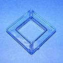 Akril gyöngy-8 (1 db) - kék négyzet, Gyöngy, ékszerkellék,     Akril gyöngy-8 - négyzet keret - kék  Mérete: 35x35x6 mmFurat mérete: 4 mm  Az ár 1 darab ..., Alkotók boltja