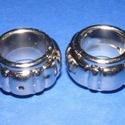 Felületkezelt műanyag köztes-6 (gyűrű - bordás/1 db), Gyöngy, ékszerkellék, Ékszerkészítés, Gyöngy,  Felületkezelt műanyag köztes-6 - gyűrű - bordás  Mérete: 25x13 mm (a furat: 5 mm) Az ár egy darab..., Alkotók boltja