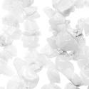 Ásványfüzér-22 (1 füzér) - fehér achát, Gyöngy, ékszerkellék,  Ásványfüzér-22 - fehér achát  Az achát lelki gyógyhatásai közül a legkiemelkedőbb a seg..., Alkotók boltja