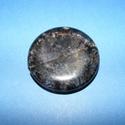 Ásványgyöngy-105 (Ø 40 mm/1 db) - átlátszó/fekete kerek, Gyöngy, ékszerkellék,  Ásványgyöngy-105 - átlátszó/fekete - kerek  Mérete: 40x7 mm Az ár egy darab ásványgöngyr..., Alkotók boltja