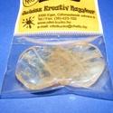 Ásványgyöngy-110 (Ø 30 mm/2 db) - átlátszó/méz hullámos kerek, Gyöngy, ékszerkellék, Ékszerkészítés, Gyöngy,  Ásványgyöngy-110 - átlátszó/méz - hullámos kerek  Mérete: 30x5 mm Az ár 2 darab ásványgöngyre vona..., Alkotók boltja