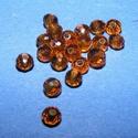 Csiszolt üveggyöngy-9 (4x3 mm/20 db) - füsttopáz, Gyöngy, ékszerkellék,  Csiszolt üveggyöngy-9 - füsttopáz  Mérete: 4x3 mmFurat: 1 mm  Kiszerelés: 20 db/csomag Az ár..., Alkotók boltja