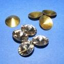 Csiszolt üvegkristály (85. minta/4+4 db) - kerek, Gyöngy, ékszerkellék,  Csiszolt üvegkristály (85. minta) - kerekMérete: 13 mmAz ár 4 darab kristályra és 4 darab fé..., Alkotók boltja