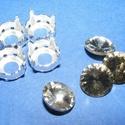 Csiszolt üvegkristály (87. minta/4+4 db) - kerek, Gyöngy, ékszerkellék,  Csiszolt üvegkristály (87. minta) - kerekMérete: 11 mmAz ár 4 darab kristályra és 4 darab fé..., Alkotók boltja