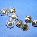 Csiszolt üvegkristály (89. minta/4+4 db) - kerek, Gyöngy, ékszerkellék,  Csiszolt üvegkristály (89. minta) - kerekMérete: 8 mmAz ár 4 darab kristályra és 4 darab fém..., Alkotók boltja