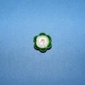 Zománcgyöngy-1 (12 mm/1 db) - zöld virág, Gyöngy, ékszerkellék,  Zománcgyöngy-1 (Cloisanne) - zöld virág  Mérete: 12 mm  Az ár egy darab gyöngyre vonatkozik...., Alkotók boltja