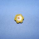 Zománcgyöngy-2 (12 mm/1 db) - sárga virág, Gyöngy, ékszerkellék,  Zománcgyöngy-2 (Cloisanne) - sárga virág  Mérete: 12 mm  Az ár egy darab gyöngyre vonatkozik..., Alkotók boltja
