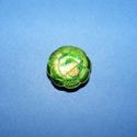 Zománcgyöngy-5 (18 mm/1 db) - zöld virág, Gyöngy, ékszerkellék,  Zománcgyöngy-5 (Cloisanne) - virág  Mérete: 18 mm  Az ár egy darab gyöngyre vonatkozik.  A te..., Alkotók boltja