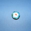 Zománcgyöngy-7 (18 mm/1 db) - kék virág, Gyöngy, ékszerkellék,  Zománcgyöngy-7 (Cloisanne) - kék virág  Mérete: 18 mm  Az ár egy darab gyöngyre vonatkozik. ..., Alkotók boltja