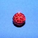 Strassz-1 (10 mm/1 db) - korallpiros, Gyöngy, ékszerkellék,  Strassz-1 - korallpiros  A gyöngy mérete: 10 mm Az ár 1 db gyöngyre vonatkozik. , Alkotók boltja