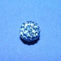 Strassz-10 (8 mm/1 db) - középkék, Gyöngy, ékszerkellék,  Strassz-10 - középkék  A gyöngy mérete: 8 mm Az ár 1 db gyöngyre vonatkozik , Alkotók boltja