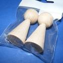 Fa bábu (2 db) - 37x15 mm, Dekorációs kellékek, Figurák,  Fa bábu - natúr    Mérete: 37x15 mm  Az ár 2 darab termékre vonatkozik.  , Alkotók boltja