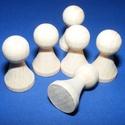 Fa bábu (6 db) - 30x15 mm, Dekorációs kellékek, Figurák,   Fa bábu - natúr    Mérete: 30x15 mm  Az ár 6 darab termékre vonatkozik.   , Alkotók boltja