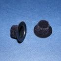 Mini kalap (1 db) - fekete, Dekorációs kellékek, Figurák,   Mini kalap - fekete - bársony    Mérete: Ø 25 mmMagassága: 12 mm  Az ár 1 darab termékre v..., Alkotók boltja