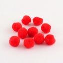 Pompom (Ø 10 mm/10 db) - piros, Dekorációs kellékek, Figurák,  Pompom - piros  Mérete: Ø 10 mm  Többféle méretben.Az ár 10 db pompomra vonatkozik.  , Alkotók boltja