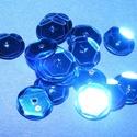 Flitter-10 (3 g) - kék (kerek), Gyöngy, ékszerkellék, Varrás,  Flitter-10 - kék - kerek  Mérete: Ø 6-7 mmA furat mérete: 1 mm  Kiszerelés: 3 g (kb. 210 db)..., Alkotók boltja