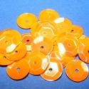 Flitter-13 (3 g) - narancssárga (kerek), Gyöngy, ékszerkellék, Varrás,  Flitter-13 - narancssárga - kerek  Mérete: Ø 9 mmA furat mérete: 1 mm  Kiszerelés: 3 g (kb. ..., Alkotók boltja