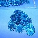 Flitter-39 (3 g) - hologramos kék (virág), Gyöngy, ékszerkellék, Varrás,  Flitter-39 - kék - hologramos virág  Mérete: Ø 12 mmA furat mérete: 1 mm  Kiszerelés: 3 g (k..., Alkotók boltja