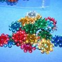 Flitter-41 (3 g) - mix (virág), Gyöngy, ékszerkellék, Varrás,  Flitter-41 - vegyes színek - virág  Mérete: Ø 12 mmA furat mérete: 1 mm  Kiszerelés: 3 g (kb..., Alkotók boltja
