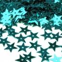 Flitter-64 (3 g) - türkiz (csillag), Gyöngy, ékszerkellék, Varrás,  Flitter-64 - türkiz - csillag  Mérete: Ø 13 mmA furat mérete: 1 mm  Kiszerelés: 3 g (kb. 150..., Alkotók boltja