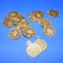 Szerencseérme (15 mm/15 db) - arany, Gyöngy, ékszerkellék, Varrás,  Szerencseérme - arany - kicsi  Mérete: Ø 15 mmA furat mérete: 2 mm  Kiszerelés: 15 db Az ár ..., Alkotók boltja