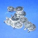 Szerencseérme (15 mm/15 db) - ezüst, Gyöngy, ékszerkellék,  Szerencseérme - ezüst - kicsi  Mérete: Ø 15 mmA furat mérete: 2 mm  Kiszerelés: 15 db A..., Alkotók boltja