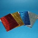 Tükörmozaik-lap (10x15 cm/1 db) - piros, Vegyes alapanyag,  Tükörmozaik - öntapadós - piros  Mérete: 10x15 cm (5x5 mm-es négyzetek)  Az ár egy darab ter..., Alkotók boltja