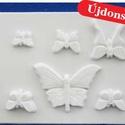 Állat-30 - gipszöntő forma (6 motívum) - pillangók, Szerszámok, eszközök, Egyéb szerszám, eszköz, Gipszöntés,         Állat-30 - gipszöntő forma - pillangók  - sablon: 18x29 cm- minta: 4-12 cm Az ár egy darab ..., Alkotók boltja