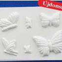 Állat-31 - gipszöntő forma (6 motívum) - pillangók, Szerszámok, eszközök, Egyéb szerszám, eszköz, Gipszöntés,         Állat-31 - gipszöntő forma - pillangók  - sablon: 18x29 cm- minta: 3-9 cm Az ár egy darab t..., Alkotók boltja