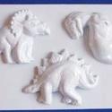 Állat-35 - gipszöntő forma (3 motívum) - dínók, Szerszámok, eszközök, Egyéb szerszám, eszköz, Gipszöntés,         Állat-35 - gipszöntő forma - dínók  - sablon: 18x29 cm- minta: 10-12 cm Az ár egy darab ter..., Alkotók boltja