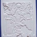 Egyéb-3 - gipszöntő forma (1 motívum) - hieroglifák, Szerszámok, eszközök, Egyéb szerszám, eszköz, Gipszöntés,        Egyéb-3 - gipszöntő forma - hieroglifák  Mérete: - sablon: 30x25 cm- minta: 26x22 cm Az ár e..., Alkotók boltja