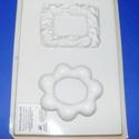 Keret-17 - gipszöntő forma (2 motívum) - mini keretek, Szerszámok, eszközök, Egyéb szerszám, eszköz, Gipszöntés,          Keret-17 - gipszöntő forma - mini keretek   - sablon: 29x18 cm- minta: 10x8 cm; 10x9- kere..., Alkotók boltja
