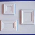 Keret-39 - gipszöntő forma (3 motívum) - mini keretek, Szerszámok, eszközök, Egyéb szerszám, eszköz, Gipszöntés,           Keret-39 - gipszöntő forma - mini keretek  - sablon: 24x20 cm- minta: 9x8 cm; 9x6 cm; 6,5..., Alkotók boltja