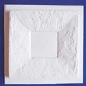 Keret-42 - gipszöntő forma (1 motívum) - márványos keret, Szerszámok, eszközök, Egyéb szerszám, eszköz, Gipszöntés,           Keret-42 - gipszöntő forma - márványos keret  - sablon: 25,5x25 cm- minta: 21x21 cm- kere..., Alkotók boltja