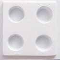 Mécses-26 - gipszöntő forma (1 motívum) - négyes mécsestartó, Szerszámok, eszközök, Egyéb szerszám, eszköz, Gipszöntés,             Mécses-26 - gipszöntő forma - négyes mécsestartó  - sablon: 18,5x21 cm- minta: alul 15x..., Alkotók boltja