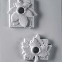 Mécses-37 - gipszöntő forma (2 motívum) - levelek, Szerszámok, eszközök, Egyéb szerszám, eszköz, Gipszöntés,                Mécses-37 - gipszöntő forma - levelek (gesztenye, juhar) - gyertyatartó  - sablon: 2..., Alkotók boltja