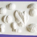 Növény-17 - gipszöntő forma (8 motívum) - őszi figurák, Szerszámok, eszközök, Egyéb szerszám, eszköz, Gipszöntés,           Növény-17 - gipszöntő forma - őszi figurák (gesztenye, süni, makk, levél, gomba)  - sablo..., Alkotók boltja
