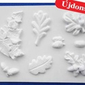 Növény-32 - gipszöntő forma (8 motívum) - levelek, makkok, Szerszámok, eszközök, Egyéb szerszám, eszköz, Gipszöntés,           Növény-32 - gipszöntő forma - levelek, makkok  - sablon: 21x28 cm- minta: 3-14 cm Az ár e..., Alkotók boltja